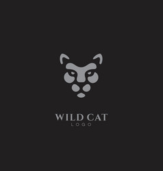 wild cat logo vector image