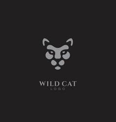 Wild cat logo vector