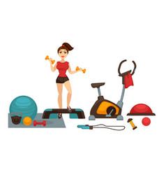 woman doing fitness vector image