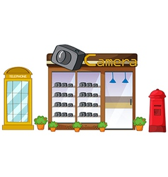 A camera store mailbox and telephone vector image vector image