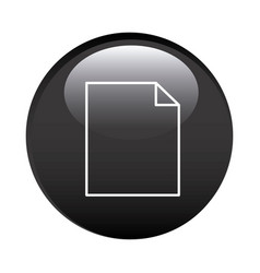 black circular frame with paper sheet icon vector image