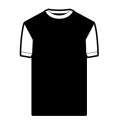 black sections silhouette of t-shirt man vector image