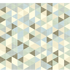 Geometric triangles pattern with stripes vector image vector image
