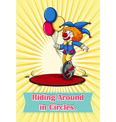 Idiom riding around in circles vector image vector image