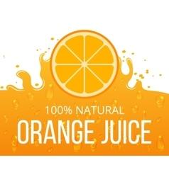 Natural orange juice label template vector image vector image