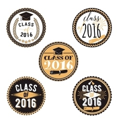 badges for graduation event party high vector image vector image