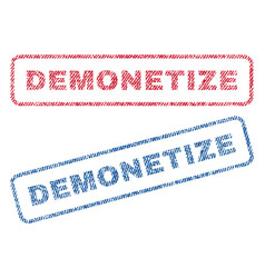demonetize textile stamps vector image vector image