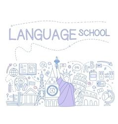 Language School Infographics vector image vector image