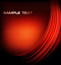 red neon background with curves vector image vector image