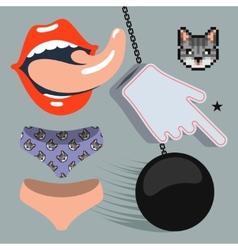Rock music design elements vector image vector image