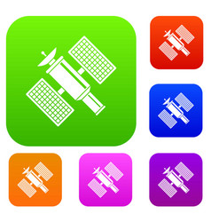 Space satellite set collection vector