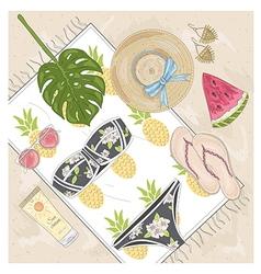 Summer fashion accessories set vector