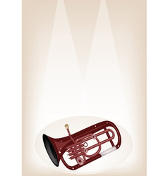 A Musical Euphonium on Brown Stage Background vector image vector image