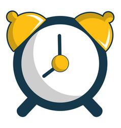 Alarm clock icon cartoon style vector