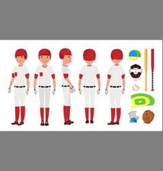 classic baseball player classic uniform vector image