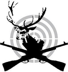 Deer hunt vector image vector image