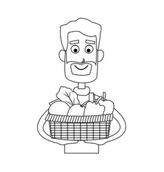 happy farmer icon image vector image