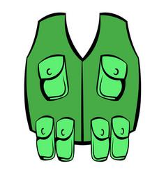 hunter vest icon icon cartoon vector image