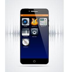 Realistic modern phone vector image