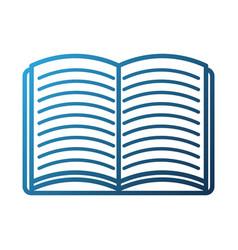 school open book literature read study vector image