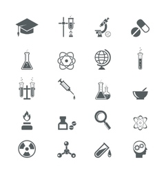 science icons vector image vector image