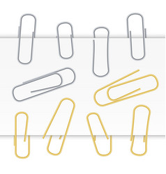 small binder clips isolated on white vector image