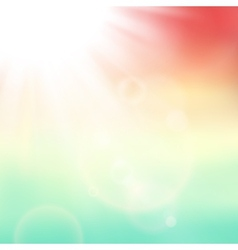 abstract background with summer sun and lens vector image vector image