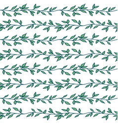 decorative hand drawn floral seamless pattern vector image vector image