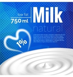 Milk design Milk wave blue triangle halftone vector image vector image
