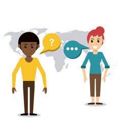People talking dialog world vector