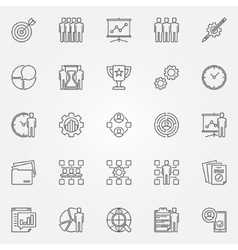 Project management icons set vector