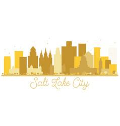 salt lake city utah usa city skyline golden vector image