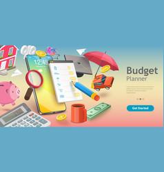 3d conceptual family budget vector