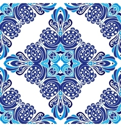 Abstract damask winter seamless pattern vector image