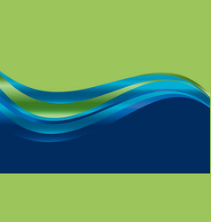 Abstract gradient wave background vector