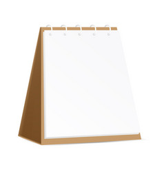 ads brown cardboard blank table calendar or vector image