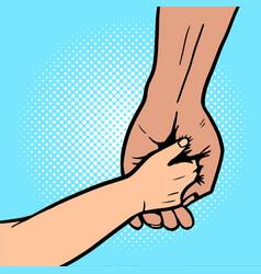 Baholds hand parent pop art vector