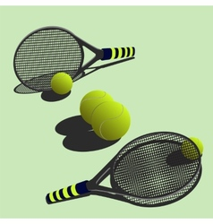 big tennis vector image