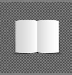 blank 3d magazines mockup on gray vector image