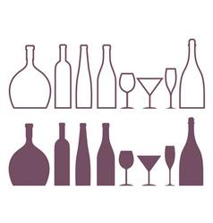Bottle Outline Silhouette vector image