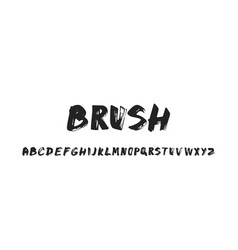 brush hand drawn alphabet vector image
