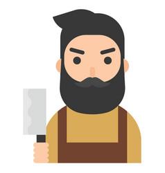 butcher icon profession and job vector image