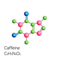 Caffeine structural chemical formula isolated on vector