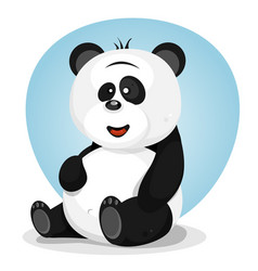 Cartoon cute panda character vector