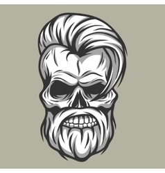 Charismatic skull hipster Vintage style vector image