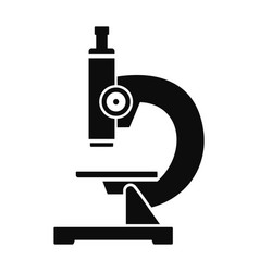 Chemical microscope icon simple style vector