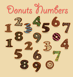 Chocolate donuts numbers vector