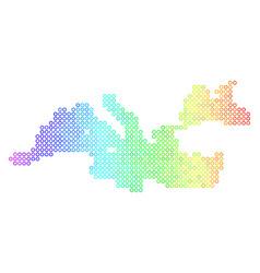 Colored cirle dot mediterranean sea map vector
