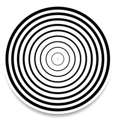 Concentric circles rings abstract geometric vector