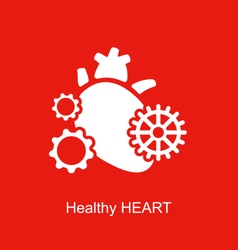 Concept of Heart as Perpetuum Mobile vector image